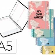 Liderpapel 11377. Agenda escolar 2020-2021. Formato A5. Interior curso.