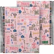 GRAFOPLÁS 16512625. Cuaderno tapa dura A5, 90 hojas, Laurie París