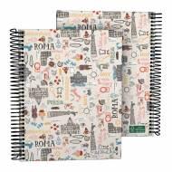 GRAFOPLÁS 16512626. Cuaderno tapa dura A5, 90 hojas, Laurie Roma