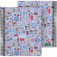 GRAFOPLÁS 16512627. Cuaderno tapa dura A5, 90 hojas, Laurie Londres