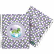GRAFOPLÁS 16512628. Cuaderno tapa dura A5, 90 hojas, Planet Tortuga