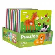 APLI 15178. 9 puzles encajables de madera Animales