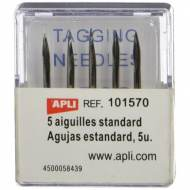 APLI 101570. Recambio 5 agujas estándar etiquetadora navetes (para 101545)