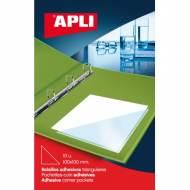 APLI 02588. Bolsillos adhesivos triangulares (75 x 75 mm)