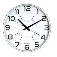 Unilux 400094488. Reloj de pared MAXI POP gris metalizado