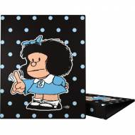 GRAFOPLAS 88141972. Pack 2 carpetas de anillas 25 mm. A4 Mafalda Lunares