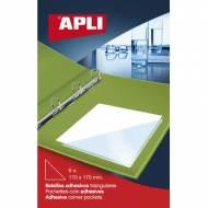 APLI 02590. Bolsillos adhesivos triangulares (170 x 170 mm)