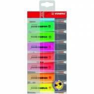 STABILO 70-8.  Pack 8 marcadores fluorescentes Boss Original con punta biselada. Colores surtidos