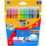 BIC Kid Couleur. Estuche 12 rotuladores. Colores sutidos - 920294