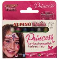 ALPINO DL000112. Maquillaje Princess, 6 colores surtidos
