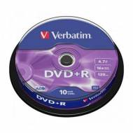 VERBATIM DVD+R 16x Advanced AZO 4,7GB Spindle 10 uds - 43498