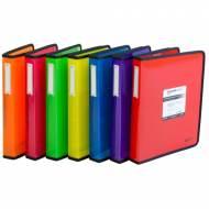 GRAFOPLÁS 30120651. Pack 2 carpetas Blackline A4+ de 4 anillas de 40. Color rojo