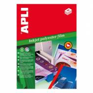 APLI 01386. Papel poliéster adhesivo DIN A4 Ink  50 H