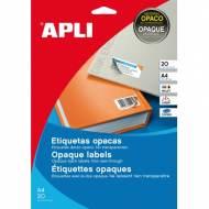 APLI 11708. Blister 20 hojas A4 etiquetas opacas (70,0 X 37,0 mm.)