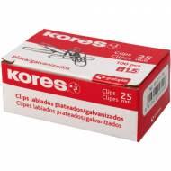 GRAFOPLÁS 00471175 Caja 100 Clips Galvanizados Labiados 25 mm (nº 1,5)