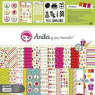 GRAFOPLAS 37010713. Kit maletín Scrapbooking colección Fiesta de Anita y su mundo