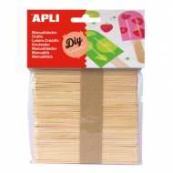 APLI 13063. Palos de polo para manualidades color natural (50 und.)