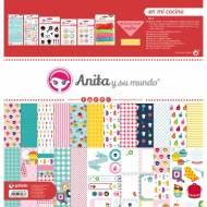 GRAFOPLAS 37080700. Kit maletín Scrapbooking colección En mi cocina de Anita y su mundo