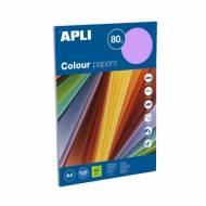 APLI 15279. Papel de 80 gr. A4 colores surtidos intenso  (100 hojas)