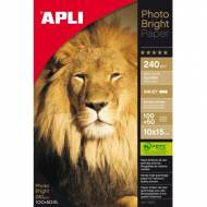 APLI 11504. Papel fotográfico PH.BR.240G. 10X15 150 H