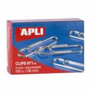 APLI 11713. Caja de clips plateados nº 1 - 1/2 (26 mm.)