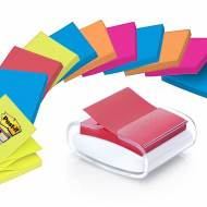 POST-IT Dispensador notas adhesivas Z-Notes + Dispensador blanco - PRO-W-1SSCOL-R330