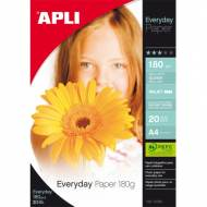 APLI 12080. Papel fotográfico Everyday 180G. 20 H