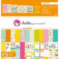 GRAFOPLAS 37080701. Kit maletín Scrapbooking colección Mi jardín de Anita y su mundo