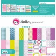 GRAFOPLAS 37080702. Kit maletín Scrapbooking colección Mosaico de Anita y su mundo