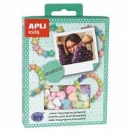 APLI 14708. Mini kit manualidades Pulseras Pastel