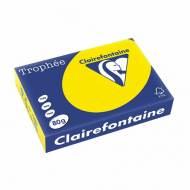 Clairefontaine 2977C. Papel amarillo flúor Trophée 80 g. A4, 500 hojas.