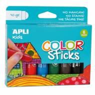 APLI 14227. Blister témperas sólidas Color Sticks colores surtidos (6 x 10 gr.)