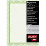 APLI OSD4020. Papel certificados y diplomas Espiral verde y azul (25 hojas)