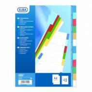 ELBA Separadores Colores Print - Formato A4, 12 posiciones - Ref. 100205067