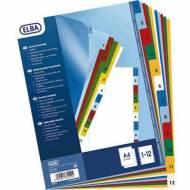 ELBA Separadores Colores Print - Formato A4+, 12 posiciones - Ref. 100205086