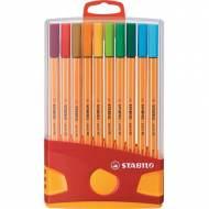 STABILO 8820-03. Estuche ColorParade 20 rotuladores Point 88 colores surtidos. Trazo 0.4 mm.