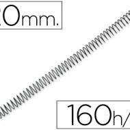Q-Connect KF04434. Caja de 100 espirales metálicas negras 20 mm