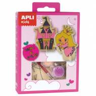 APLI 14711. Mini kit manualidades Pinta & Colorea Princesa