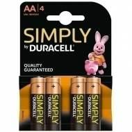 DURACELL LR06AA. Pack 4 Pilas alcalinas AA. MN1500-LR06