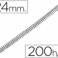 Q-Connect KF04436. Caja de 100 espirales metálicas negras 24 mm