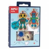 APLI 14712. Mini kit manualidades Pinta & Colorea Robot
