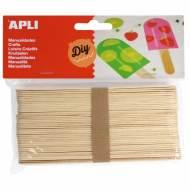 APLI 13268. Palos de polo jumbo para manualidades color natural (40 und.)