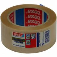 TESA Cinta embalaje PVC rugoso TesaPack®, transparente (50mm x 66 m) - 04100-00227-00