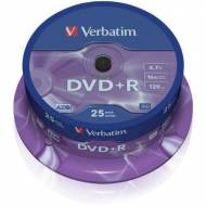 VERBATIM DVD+R 16x Advanced AZO 4,7GB Spindle 25 uds - 43500