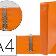 Liderpapel KA07. Carpeta de 4 anillas 40 mm mixtas A4 pvc color naranja