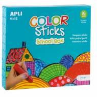 APLI 14850. Caja témperas sólidas Color Sticks colores surtidos (96 x 10 mm.)