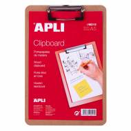 APLI 18213 Clipboard madera A5
