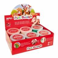 APLI 13451. 12 botes plastilina mágica Fun Dough de colores