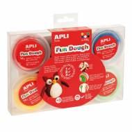 APLI 13454. 6 botes plastilina mágica Fun Dough de colores