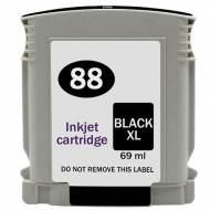 Iberjet H88XL-BK Cartucho de tinta negro, reemplaza a HP C9396AE nº 88XL BK